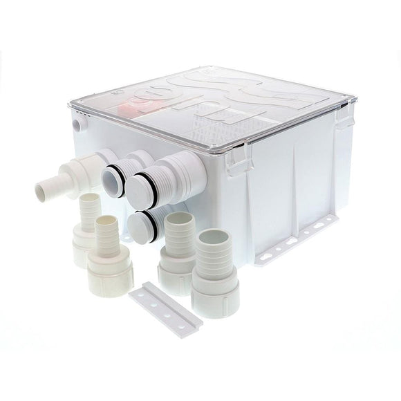 Rule Shower Drain Box w/800 GPH Pump - 12V [98B]