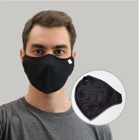 Black Washable Facial Protect- Pack of 7