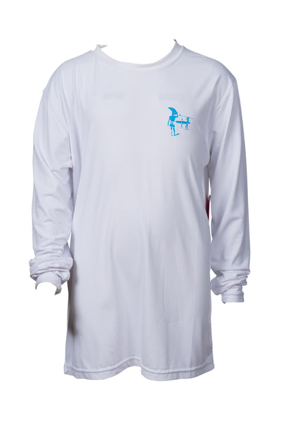 BOYS FLAMINGO LONG SLEEVE SUNSHIRT - WHITE