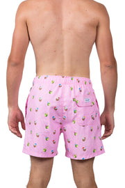 STRIPED COCONUTS SWIM SHORTS - LT PINK