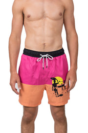 ENDLESS SUMMER LOGO SWIM SHORTS - PINK/ORANGE