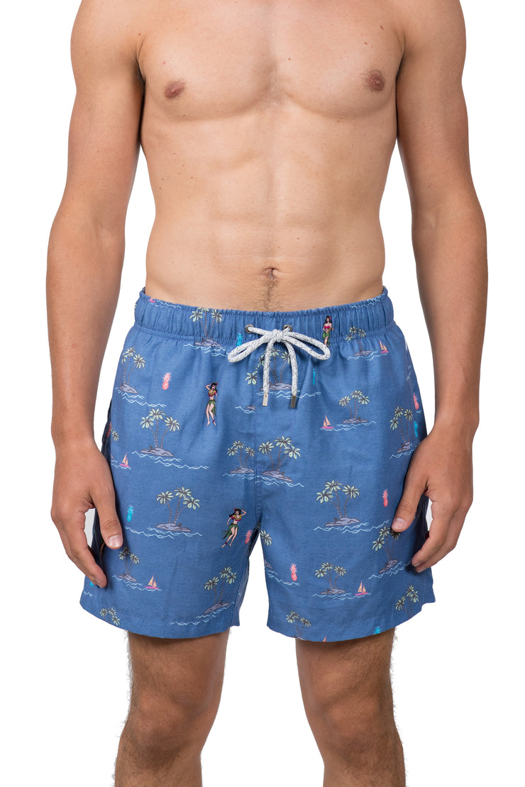 NAUTICAL ICONS SWIM SHORTS - NAVY