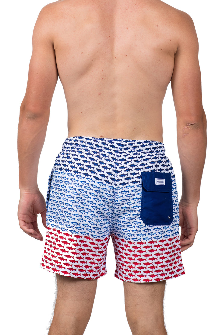 FISH SWIM SHORTS - FLAG