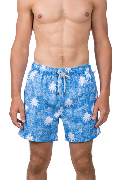 PALM TREES SWIM SHORTS - BLUE WASH