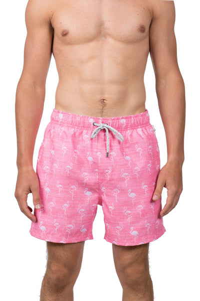 FLAMINGO SWIM SHORTS - PINK WASH