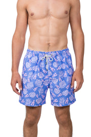 LOBSTER SWIM SHORTS - PERIWINKLE