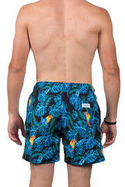 PARROT SWIM SHORTS - BLACK