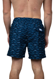 ALL OVER FISH SWIM SHORTS - NAVY