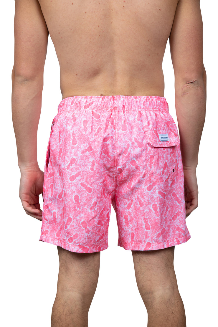 DISTRESSED SWIM SHORTS - CORAL