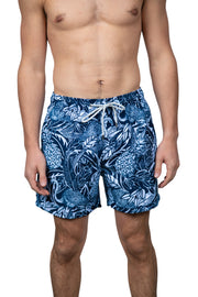 PINEAPPLE & FLAMINGO TROPICAL SWIM SHORTS - NAVY