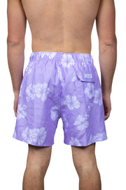 ALL OVER TOSSED FLOWER SWIM SHORTS - LILAC