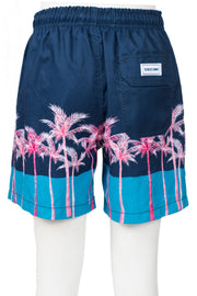 BOYS COLORBLOCK SWIM SHORTS - BLACK