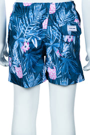 BOYS TROPICAL PINEAPPLE PRINT SWIM SHORTS - DENIM