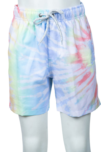 BOYS SIDE SPLATTER TIE DYE SWIM SHORTS - MULTI
