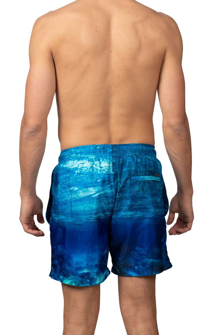 SHARK SWIM SHORTS - BLUE