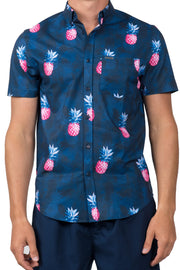 PINEAPPLE BUTTON DOWN TOP - NAVY