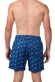 MULTI FISH SWIM SHORTS - NAVY