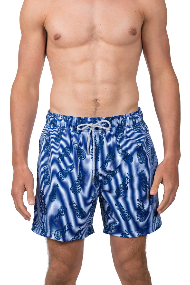 PINEAPPLE SWIM SHORTS - NAVY BLUE