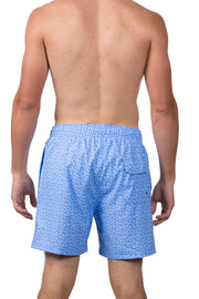 DITSY SUNGLASSES SWIM SHORTS - LT BLUE
