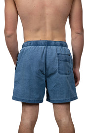 VINTAGE WASH SWIM SHORTS - NAVY