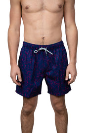 EMBROIDERED SWIM SHORTS - NAVY
