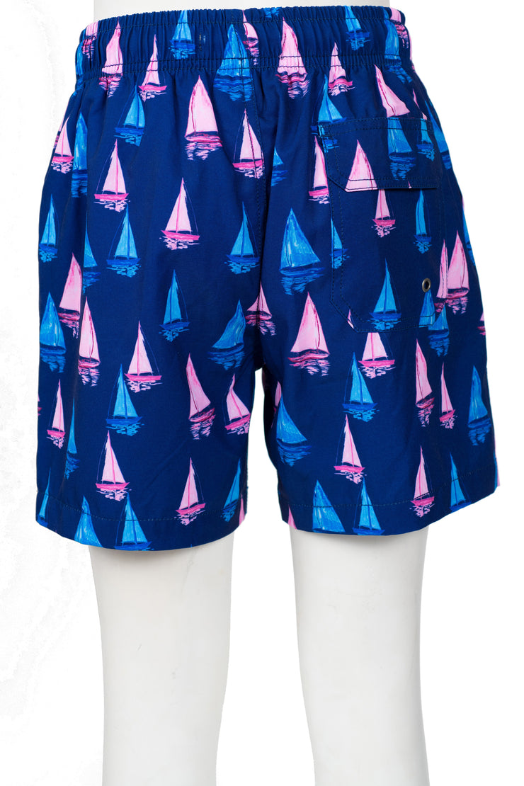 BOYS SAILBOAT SWIM SHORTS - NAVY