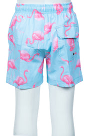 BOYS FLAMINGO SWIM SHORTS - MINT