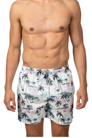 PALM TREE SWIM SHORTS - PINK