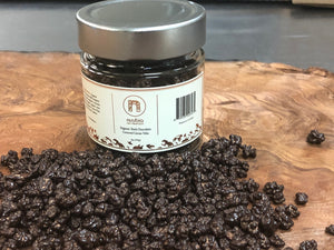 65% Single Origin Dark Chocolate Covered Cocoa Nibs