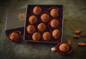 Vegan Dark Chocolate Port Wine Truffles