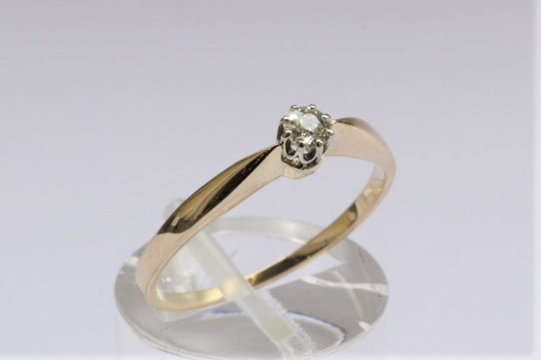 Ring 585 Gold Brillant 0,3 Carat