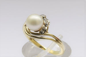 Ring Gold Perle & Diamant