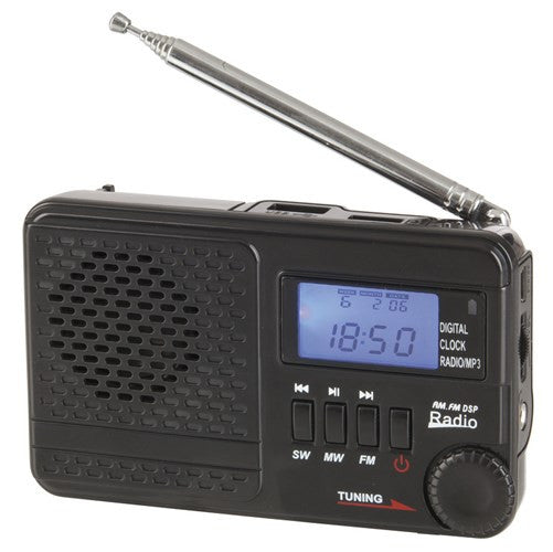 AM/FM  Short Wave Rechargeable Radio with MP3