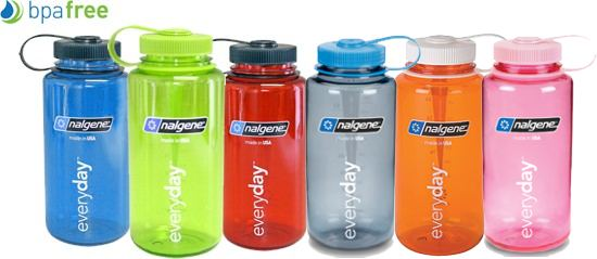 Nalgene 500mL Triton Wide Mouth Water Bottle BPA Free