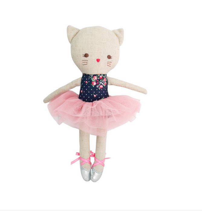 Odette Kitty Ballerina 25cm Midnight Floral