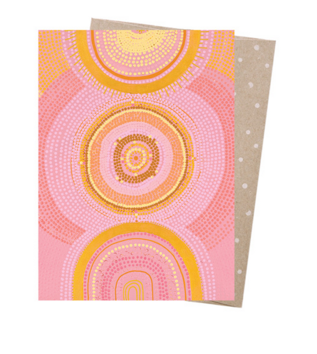 Natalie Jade The Great Cosmic Sun Greeting Card