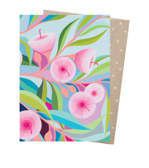 Claire Ishino Pink Blossom Greeting Card