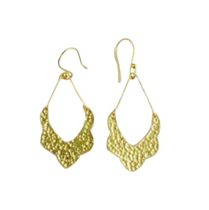 Melanie Woods Euro Gold Moroccan Drop Earrings