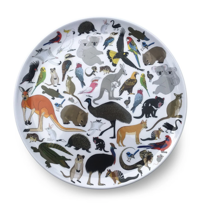 Red Parka Melamine Plate - Australian Animals