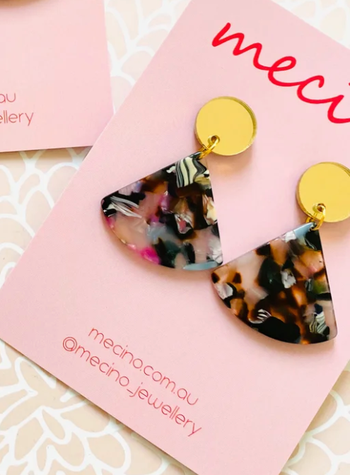 Mecino Candy Triangle Drop Bella Earrings