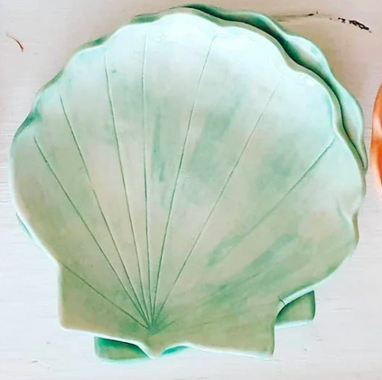 Tea 4 Two Art Shell Plate Green