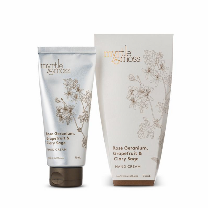 Myrtle + Moss Rose Geranium, Grapefruit & Clary Sage Handcream