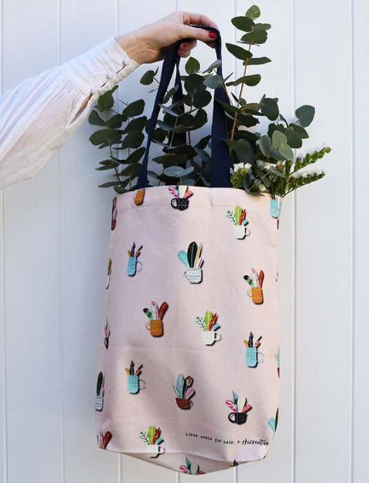 Birds Nests for Hair + Rhi Creative Co Lab Leafy Cups Tote