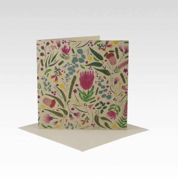 Australiana Floral All Occasion Mini Card Rhi Creative