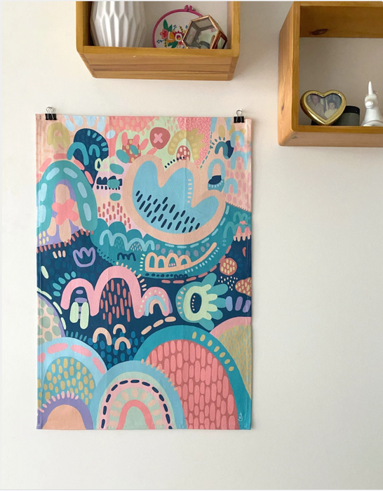 'Wintertime' Tea Towel, Rach Jackson Art