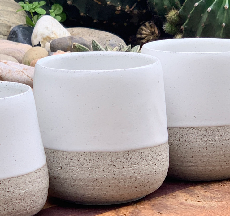Mxox Speckled Clay with White Coffee Tumblers