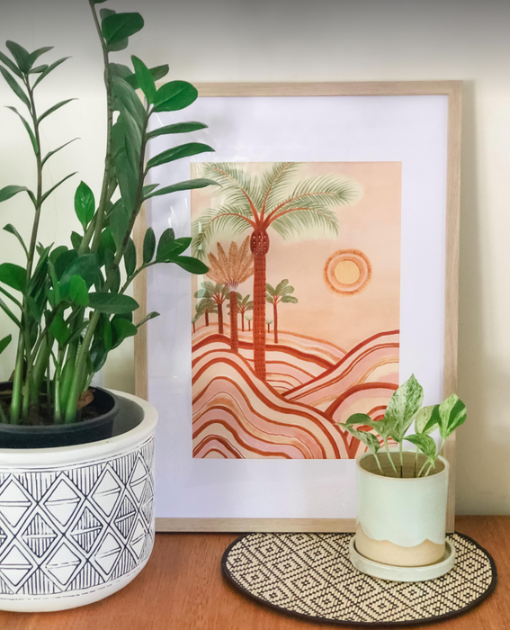 Karina Jambrack 'Sunset Skies' A3 Framed Print