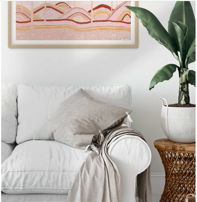 Karina Jambrack 'Dusty Pink Dunes' A3 Framed Print *slight frame mark, discounted*