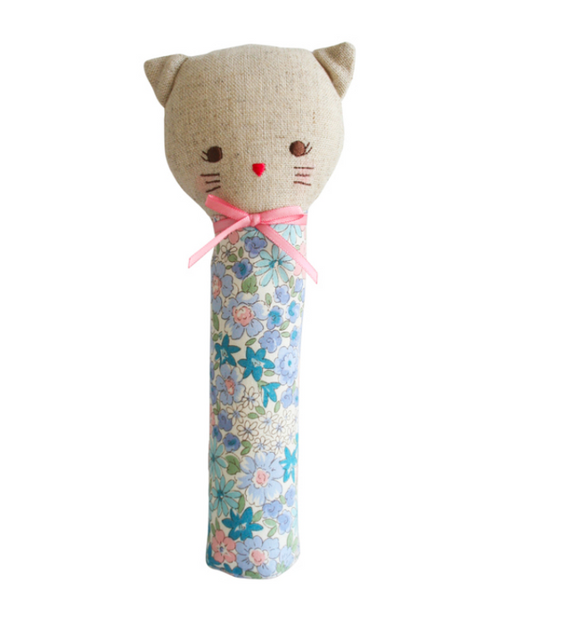 Odette Kitty Squeaker Liberty Blue