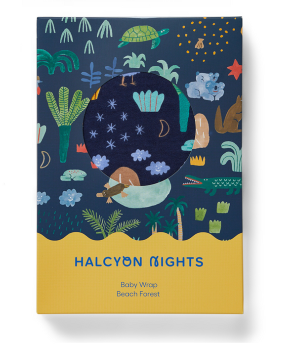 Halcyon Nights Beach Forest Baby Wrap